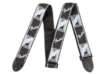 Fender Monogrammed Black/Light Grey/Blue Guitar Strap