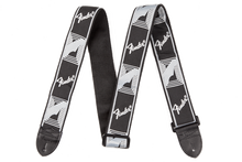 Fender Monogrammed Black/Light Grey/Dark Grey Strap