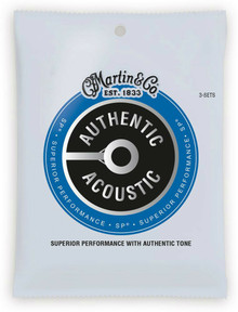 Martn MA175PK3 Authentic Acoustic SP 80/20 Bronze Strings Triple Pack - 11-52