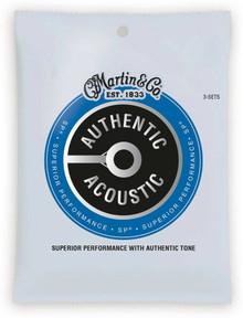 Martn MA175PK3 Authentic Acoustic SP 80/20 Bronze Strings Triple Pack - 11-52