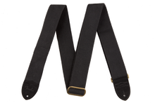 Fender Cotton Leather Black Guitar Strap