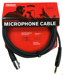 Planet Waves Custom Series XLR to Jack Microphone Cable - 10ft
