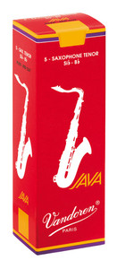 Vandoren Java Red Tenor Saxophone Reeds Box of 5 - 1.5