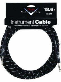 Fender Custom Shop Black Tweed Performance Series Instrument Cable - 18.6ft
