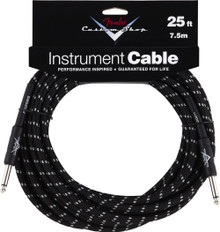 Fender Custom Shop Black Tweed Performance Series Instrument Cable - 25ft