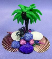 Large Feeder - Shell & Palm Tree Mix