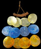 "Item #: 51243 • 6"" Saddle Oyster Windchime • 3 Colors (Yellow, Blue, Orange)"