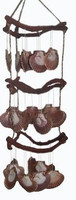 3 Layers Curly Vine with Flats Wind Chime