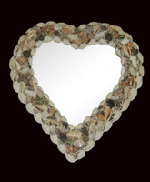 "Shell Mirror 15"" x 15"" • Heart"