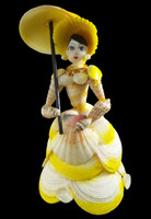 Shell Doll with Umbrella