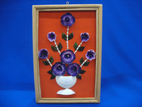 Purple White Cacay Flower Frame