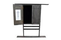 10 Cue Wall Cue Rack & Dartboard Cabinet - Rustic - 056-042-P