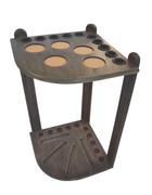 10 Cue Floor Cue Rack - Rustic - 056-041-P