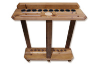 10 Cue Floor Cue Rack Rustic - Louis - 056-038-L