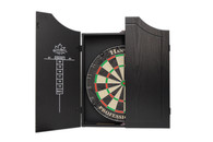 Delta Professional Dartboard & Cabinet Set  - Black - 100-001