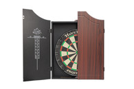 Delta Professional Dartboard & Cabinet Set  - Brown - 100-002