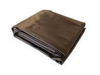 8 Foot Leatherette Pool Table Cover - Brown - 069-903-BN