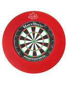 Delta Dartboard Surround PU Round - Red - 100-702-RD