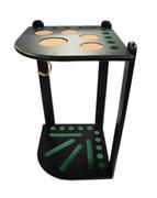10 Cue Floor Cue Rack - Black - 056-041-BK