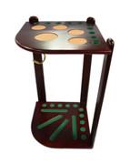 10 Cue Floor Cue Rack - Brown - 056-041-BN