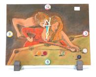 Billiard Leather Clock - 092-102