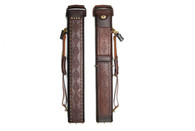 Delta Genuine Leather 3x6 Hand Tooled Case - Brown - 031-902-1-36