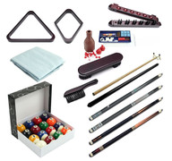 Premium Billiard Accessory Kit - Brown - 093-801-BN