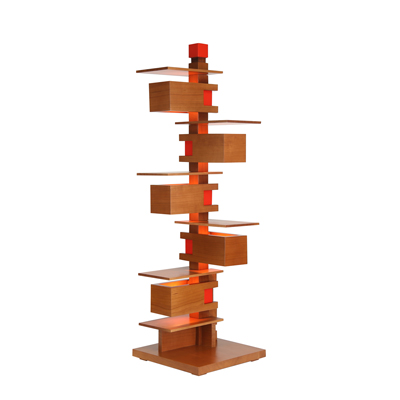 Frank Lloyd Wright designed Taliesin 3 Table Lamp in cherry full view