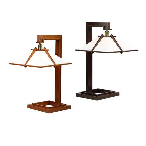 Taliesin 1 Cherry & Walnut Edition shown  Frank Lloyd Wright, Taliesin, AlaModerna, Taliesin 1, table lamp