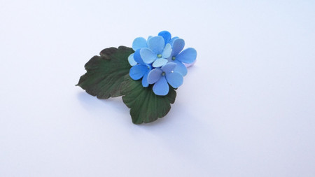 Cluster Blue Hydrangea Boutonniere