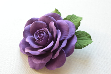 Liberty Hair Clip in Purple Rose. LARGE