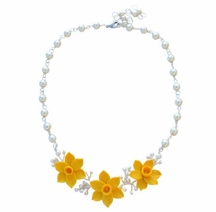 Angela Vine Necklace in Golden Yellow Daffodil