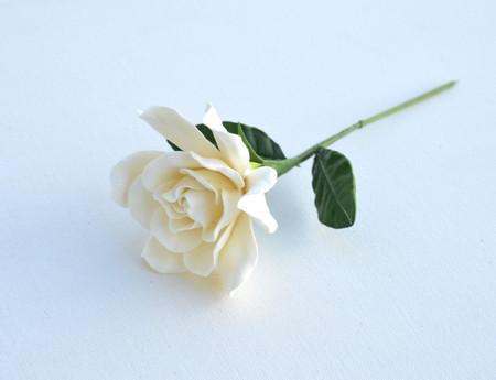 White Gardenia with Leaves Stem