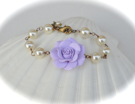SALE Aaliyah Link Bracelt in Lavender Rose