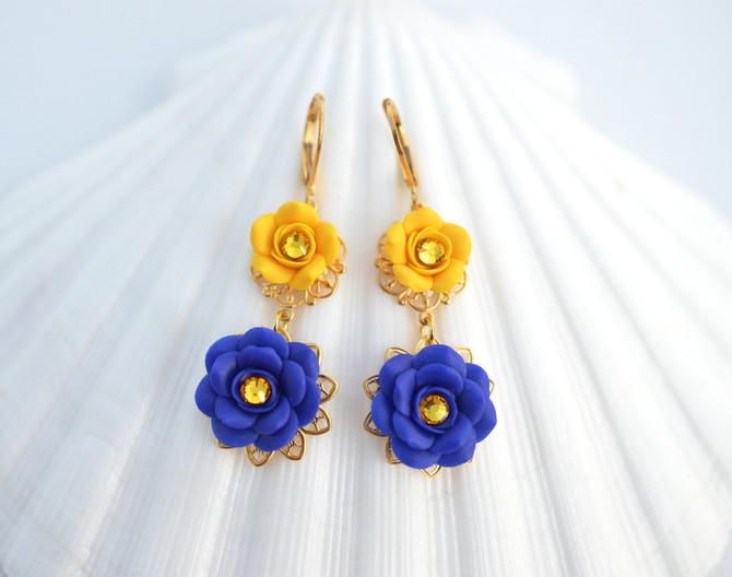 Golden Yellow and Cobalt Blue