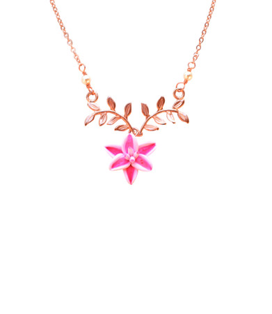 ATHENA Branch Drop Necklace in Stargazer Lily