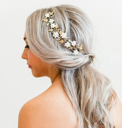 NADHI Hair Vine in White Daffodil