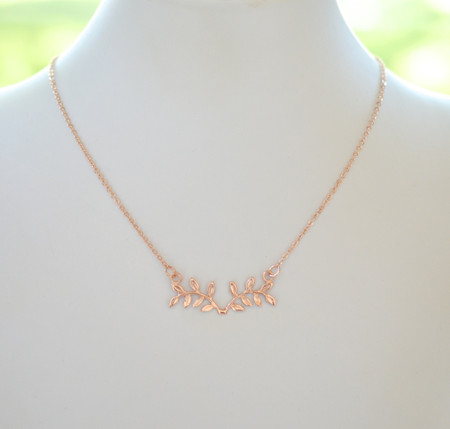 ATHENA Metal Branch Necklace