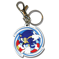 Sonic the Hedgehog: Sonic Spinning PVC Key Chain