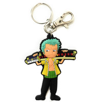 One Piece: SD Zoro with Sword PVC Keychain
