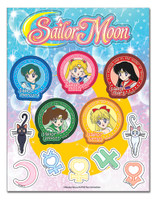 Sailor Moon: Inner Senshi and Symbols Sticker Sheet