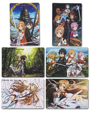 Sword Art Online Foil Sticker Set - 6 Stickers