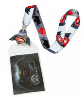 Batman v Superman Dawn of Justice Logo Lanyard with ID Holder & Charm