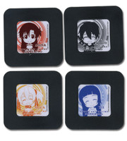 Sword Art Online Anime Coasters Set 2 - Chibi SD Characters