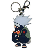Naruto: Chibi SD Kakashi Reading Make-Out Paradise PVC Keychain