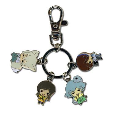 Kamisama Kiss: SD Nanami, Tomoe, Kurama, Mizuki Group Metal Keychain