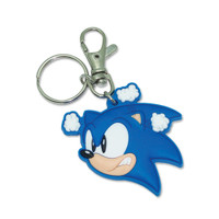Sonic The Hedgehog: Angry Sonic Head PVC Keychain