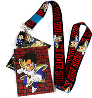 Dragon Ball Z: Vegeta It's Over 9000 Lanyard with ID Holder and Charm