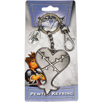 Kingdom Hearts: Heartless Pewter Key Ring Keychain