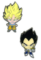 Dragon Ball Z: Super Saiyan Goku & Vegeta Metal Pin Set of 2